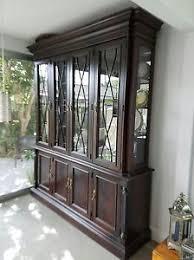 vintage stanley furniture china cabinet base hutch curio