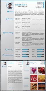 Free Resume Cover Latter Portfolio PSD Template