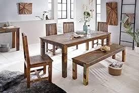 wohnling esszimmertisch kalkutta 120 x 70 x 76 cm massivholz esstisch für 4 6 personen küchentisch bootsholz shabby chic tisch esszimmer