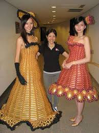 Creative But Weird Dresses Made Out Of Waste And Other Alternates 2