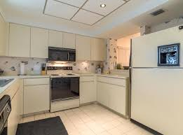 1980s Kitchen With Abstract Wallpaper