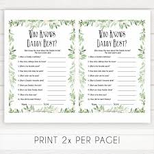 Who Knows Mommy Best Game Printable Little Star Baby Shower Games