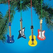 OTC Set Of 4 Guitar Ornaments Bass Electric Accoustic Styles