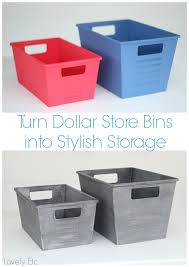 Decorating Fabric Storage Bins by How To Paint Plastic To Look Like Vintage Metal Dollar Store