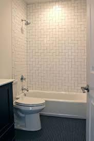 tiles white subway tile shower with pebble floor best 25 white