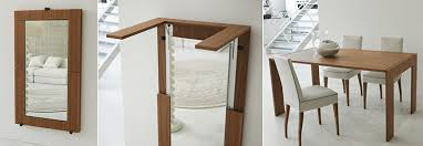 A Mirror Turns Into Folding Dining Table The Tip Over By Porada