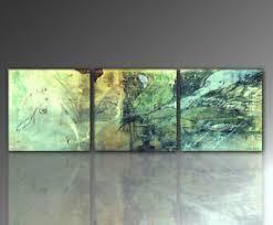 details zu designbilder wandbild frau grün wohnzimmer 3 teilig modernes bild 150x50cm