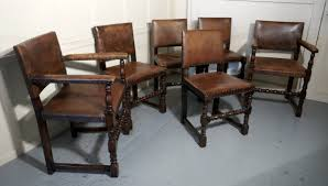 Set Of 6 Jacobean Style Gothic Oak And Leather Dining Chairs ... 6 Antique Berkey Gay Depression Jacobean Walnut Ding Room Table And Four Chairs With Bench Luxury Wood Set Of Eight Solid Carved Oak 1930s Or Gothic Style Kitchen Design Sets This Is Fantastic A Superb Large Oak Refectory Table Size 121 X 242cm Togethe Lovely Top Result 50 Pair Ethan Allen Royal Charter Side Early 20th Century Revival Lot 54 Mahogany Six Jacobean Chair Artansco