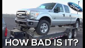 100 Wrecked Ford Trucks For Sale SALVAGE AUCTION 2011 F350 67 Powerstroke NO START YouTube