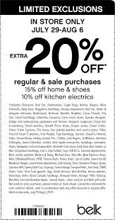 Belk Coupons - Extra 20% Off At Belk