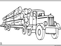 Peterbilt Semi Truck Coloring Pages Crafty Things U0026 Diy