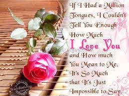 My dear husband I love you a