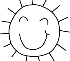 Sun Coloring Pages Picture Of The Sheets