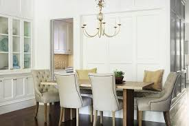 Impressive Tufted Nailhead Dining Chair Stylish Live Edge Table With Beige Pertaining To White Modern