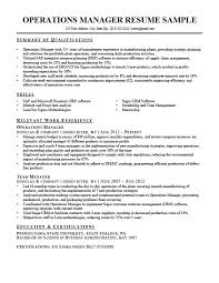 Operations Manager Resume Sample Writing Tips
