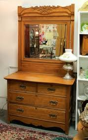 antique oak dresser with beveled mirror gorgeous tiger oak ec