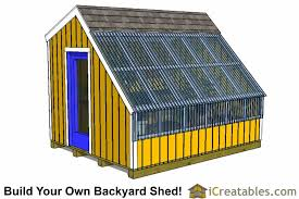Saltbox Shed Plans 10x12 by Greenhouse Shed Plans Easy To Use Diy Greenhouse Designs