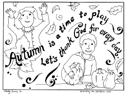 Autumn Coloring Page Lets Thank God Pages Disney