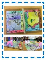 BOOK REPORT Board Game Fun Easy Directions Artistic Creative Challenging