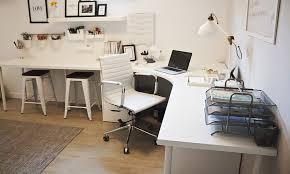 Stand Up Desk Conversion Kit Ikea by Home Office Corner Desk Setup Ikea Linnmon Adils Combination