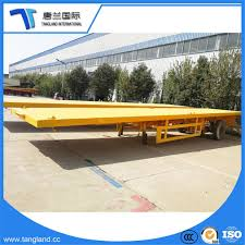 China Cheap 3 Axles Container Flatbed Trailer Sale/Flat Bed Semi ...