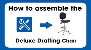 Harwick Ergonomic Drafting Chair by Deluxe Drafting Chair Assembly Instructions Youtube