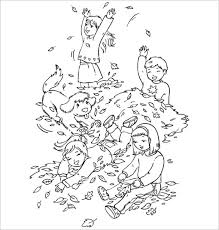 Autumn Play Coloring Page