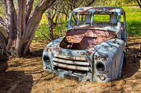 100 Wrecked Truck And Abandoned Old Blue Stock Photo Picture And