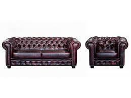 canapé et fauteuil chesterfield 100 cuir de buffle brenton