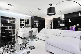 Fabulous Black And White Interior In Unique Flooring And Purple ... 35 Black And White Bathroom Decor Design Ideas Tile How To Design A Home With Black White Atlanta Magazine Bedroom And Nuraniorg 40 Beautiful Kitchen Designs Bookshelf As Room Focus In Interior Best High Contrast Style Decorating Grandiose Silver Seat Curved Sofa On Checkered Floor 20 Of The Colors Pair Or Home Stunning Image Ipirations