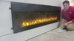 How To Put In A Gas Fireplace by Napoleon Nefl72fh How To Install A Flush Mount Electric Fireplace