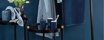 handtücher accessoires und badematte bringen die farbe blau