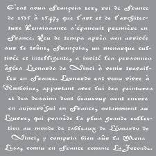 Deco Art Americana Decor Stencil Old French Script EBay