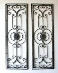Tuscan Metal Wall Decor Inspirations Art Cozy Large Scrolling Wrought Iron Grille Set Discover Decorating Ideas