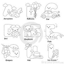 Alphabet Coloring Page Royalty Free Stock Photos Image