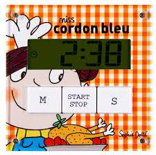 minuteur cuisine aimanté minuteur aimanté miss cordon bleu