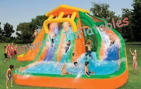 055mm PVC Tarpaulin Kids Giant Inflatable Pool Slides Toys Commercial Grade