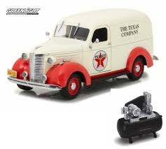100 Texas Truck And Toys Diecast Car Air Compressor Package 1939 Chevy Panel White