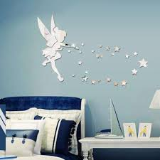 großhandel abnehmbare fee spiegel wandaufkleber aufkleber 3d diy acryl wandtattoo tapete hause kinder schlafzimmer wohnzimmer dekoration aufkleber
