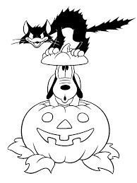 Disney Halloween Coloring Pages To Print by Halloween Cats Pictures Free Download Clip Art Free Clip Art