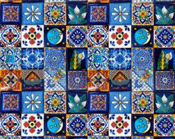 100 pcs mexican tile handmade talavera tile 4x4 mosaic craft tiles