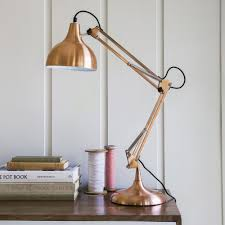 Amazon Anglepoise Desk Lamps by Hettie Angled Table Lamp In Copper Best Inspiration For Table Lamp