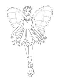 Barbie Mariposa Coloring Pages