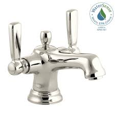 kohler bancroft single hole 2 handle low arc bathroom faucet in
