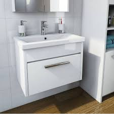 Freestanding Bathroom Sink Cabinet White Tramonto
