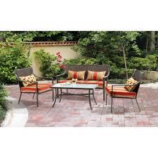 Patio Furniture Conversation Sets Home Depot by 4 Piece Patio Furniture Sets Patio Furniture Ideas