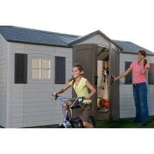 Lifetime 10x8 Plastic Shed by Lifetime 15 Ft X 8 Ft Outdoor Storage Shed