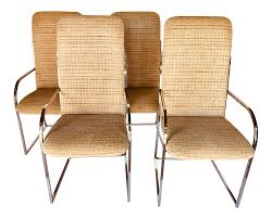 Design Institute Of America Mid-Century High Back Dining Chairs - A Pair Indoor Chairs Slope Leather Ding Chair Room Midcentury Cane Back Set Of 6 Modern High Mid Century Walnut Accent Wingback Curved Arm Nailhead W Wood Leg Project Reveal Oklahoma City High End Upholstered Ding Chairs Ameranhydraulicsco 1950s Metalcraft 2 Available Listing Per 1 Chair Floral Vinyl Covered With Brown Steel Frames Design Institute America A Pair Midcentury Fniture Basix Kitchen Best For Home
