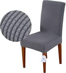 luollove stuhlhussen stretch abnehmbare waschbar stuhlbezug für esszimmerstühle stretch stuhl mit gummiband für esszimmer 2er grau