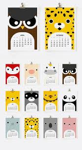 Cute Animal Calendar Graphicdesign